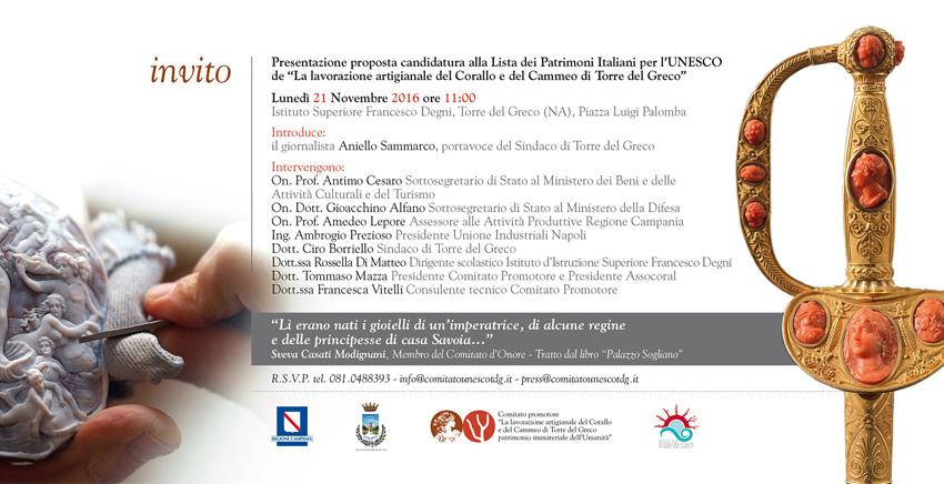 Presentazione proposta candidatura UNESCO - Conferenza 21 Novembre 2016